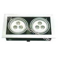 Jual Oscled  Retangular Downlight Ac 220V 6X3w Warmwhite Tipe Dl-64b
