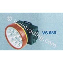 Senter Kepala Led Visalux 1 Big Led Dan 8 Led Light Vs 689