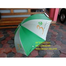 Promotional golf umbrella colors green white