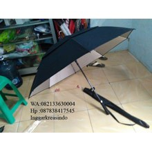 Payung golf susun fiber promosi warna hitam