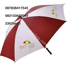 Umbrella Golf Red White
