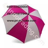 Payung Golf Selang Seling Warna Merah Putih