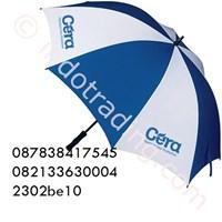 Payung Golf Biru Putih Sablon