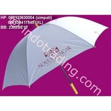 Umbrella Golf Silver Gagang Kayu