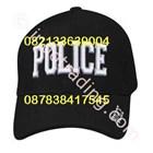 Topi Rafel Logo Police Hitam