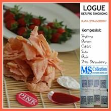 Logue Keripik Singkong [ Pink Rasa Strawberry ]