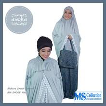 Mukena Smock Cotton Asoka [ Mk-Sa068 Abu ]