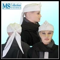 Iket Sunda Praktis - Bendo Putih Polos [ Mahkota Wangsa Parahyangan - Ms0302a ]