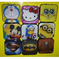 Jual MP3 Player v49 Square Motif [ML]