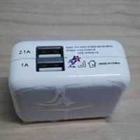 CHR2v02 AC220 TO USB 2 PORT APPLEPACK WHITE [ML]