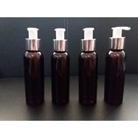 Jual Botol Plastik Br 100 Ml Coklat Dan Pump Lotion Silver Berkualitas