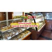 Sell cake showcase mesin untuk memajang kue tart dan kue