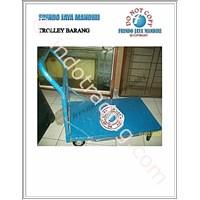 Sell Trolley Barang Plat Bordes Warna Biru