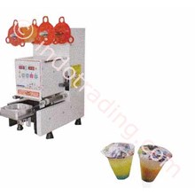 Mesin Cup Sealer Otomatis Mesin Penutup Gelas Minuman Plastik Otomatis