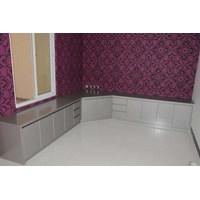 aluminium composite panel kitchen set 1.