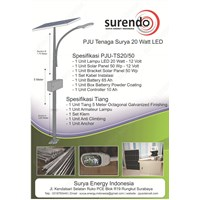 Pju Solar Cell 20 Watt Led
