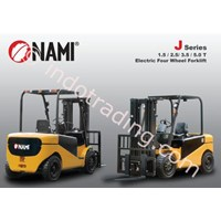 Jual Forklift Electric Four Wheel Seri J