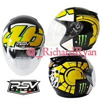 Jual Helm Half Face Rossi Winter Test Yellow
