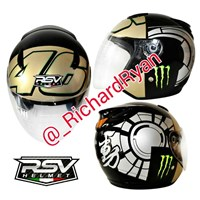 Jual Helm Half Face Rossi Winter Test Gold