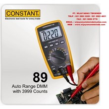 Auto Range DMM with 3999 Counts 89 Merk Constant