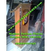 Jual www.BENGKELMARMER.com Podium Mimbar Pidato Untuk Kapolda Polda Papua Dengan Bahan Plastik Mika Akrilik Acrylic Surabaya Medan Jakarta Papua Bandung Jogja