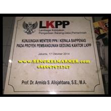 www.BENGKELMARMER.com Batu Prasasti Peresmian Marm