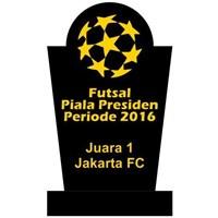 Jual Plakat Piagam Piala Untuk Kompetisi Sepakbola Futsal Bahan Kristal Akrilik Marmer Granit Murah Jakarta