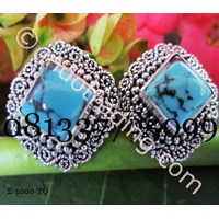 Silver Earrings 2 Jewel Turquise