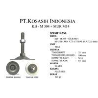KB - M 304 + MUR M14 - Adjuster Foot M14 X 75 ( KAKI MEJA)