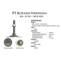 KB - M 305 + MUR M20 - Adjuster Foot M20 X 100 (KAKI MEJA)