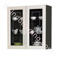 Jual Lemari Dapur 2 Pintu Atas Kaca  (Series Mutiara) Kkd 010880