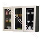 Lemari Dapur 3 Pintu Atas Kaca (Series Mutiara) Kkt010880