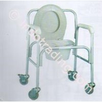 Deluxe Aluminum Commode On Caster