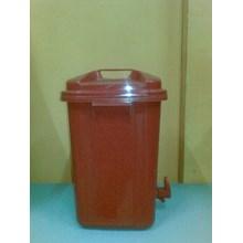 Timba Tong Kran Plastik Dengan Tutup Cuci Tangan W