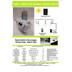 LAMPU LED DENGAN TENAGA MATAHARI