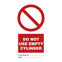 Jual IMO Signs Do Not Use Empty Cylinder IMPA 332529
