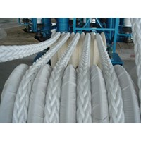 Dia. 36mm Double Braided Hawsers Polypropylene Multifilament Mooring Rope 3 Strand IMPA 210566