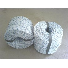 Dia. 38mm Double Braided Hawsers Polypropylene Monofilament Mooring Rope 3 Strand IMPA 210267