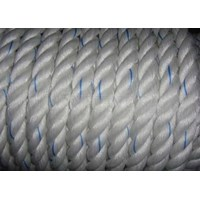 Dia. 77mm Double Braided Hawsers Polypropylene Monofilament Mooring Rope 8 Strand IMPA 210362