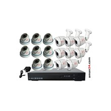 PAKET CCTV 16 CHANNEL AHD HOME 720P MURAH 8 INDOOR