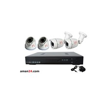 PAKET CCTV 4 CHANNEL AHD OFFICE 1080P MURAH 2 INDO