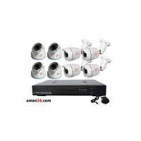 PAKET CCTV 8 CHANNEL AHD OFFICE 1080P MURAH 4 INDO
