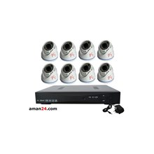 PAKET CCTV 8 CHANNEL AHD OFFICE 1080P MURAH 8 INDO