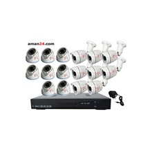 PAKET CCTV 16 CHANNEL AHD OFFICE 1080P MURAH 8 IND