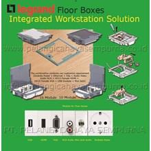 Floor boxes Type Karpet Type Stainless Steel Peralatan & Perlengkapan Listrik