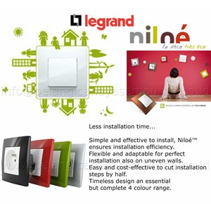 jual stop kontak saklar legrand niloe switch sockets dimmer switchbell tv data telp. Black Bedroom Furniture Sets. Home Design Ideas