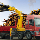 Equivalent load moment indication solution for knuckle boom crane