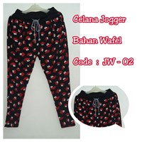 Jual Celana Jogger Bahan Wafel JW 02