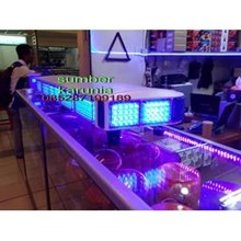 Lightbar Polisi Biru - Biru  LED 12V