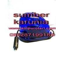 Lampu Rotari 4 inch Magnet Biru